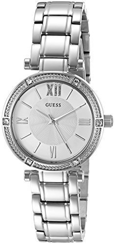 Reloj Acentuado Con Cristal De Acero Inoxidable Para Mujer G