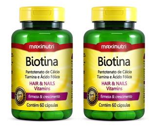 Kit Biotina Firmeza & Crescimento 120caps - Maxinutri