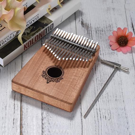 17-chave Kalimba Porttil Polegar Piano Mbira De Madeira De