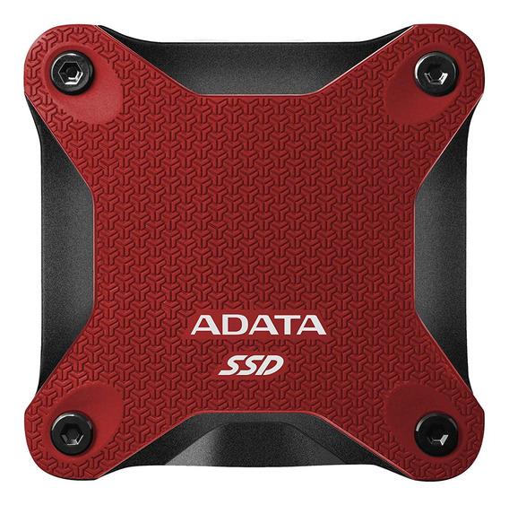 Disco sólido externo Adata ASD600Q-480GU31-C 480GB red
