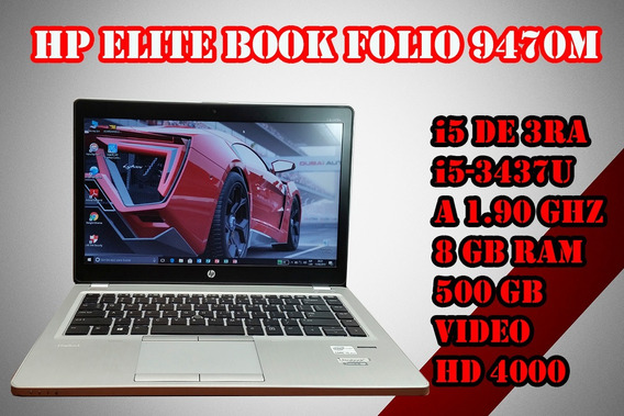 Laptop I5 Hp Elite Book Folio 9470m I5 3ra Gen 500gb 8gb