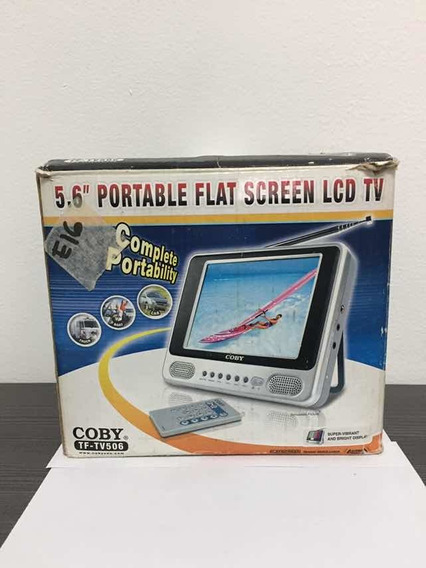 Tv Portátil Coby 5 Pulgadas Con Todos Sus Accesorios 40 V