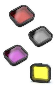 Kit Filtro Gopro Hero 3+ 4 Mergulho Vermelha Magenta Amarela