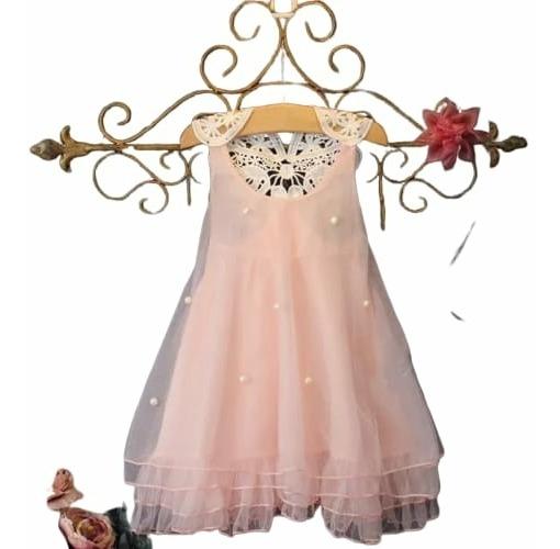 Vestido Verão Menina Infantil Salmão Tam 3 Anos Oferta