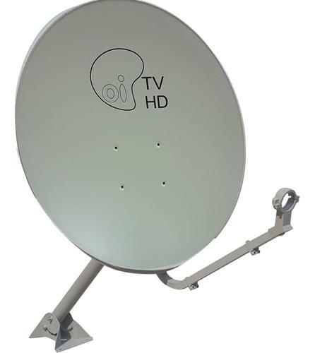 Antena Ku 60cm Kit 5 Logo Oi Sem Lnbf Sem Cabo Caixa Fechada