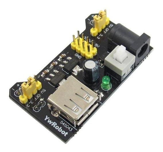 Fonte De Alimentação 3.3v 5v Para Protoboard Arduino Pic Avr