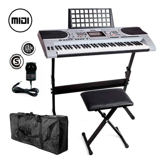 Set Organo Musical + Asiento + Soporte Piano T05 61 Teclas