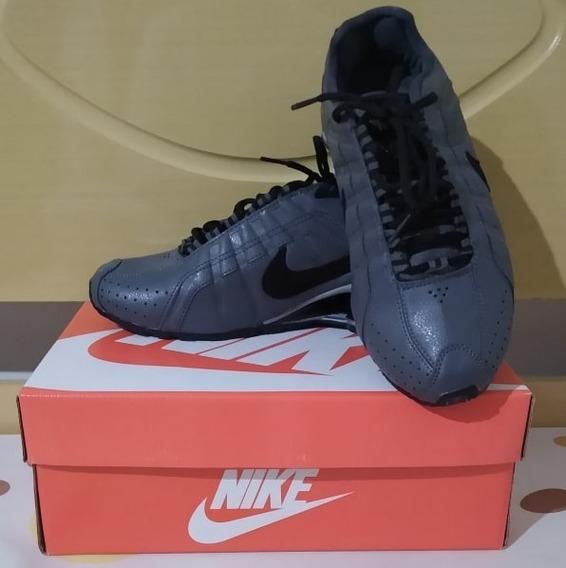 Tenis Nike Shox Junior Cinza E Preto Nº43/44 Original!!!