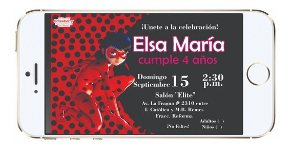 Invitacion Digital Lady Bug 01d