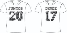 Camiseta Juntos Desde ... Personalize Com Sua Data Namorados
