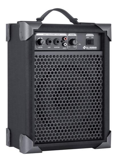 Caixa Caixa De Som Amplificada Microfone Guitarra Lx 40 Nca
