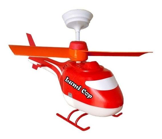 Ventilador Teto Helicóptero Infantil Criança Com Motor 110v