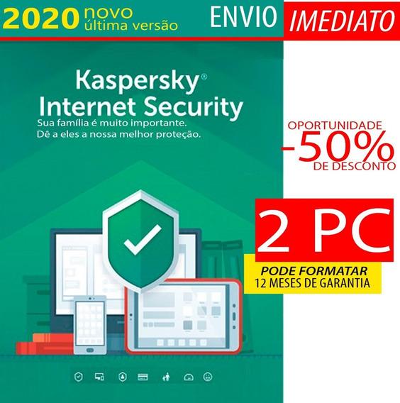 Kaspersky Internet Security 2 Pc 1 Ano Envio Imediato