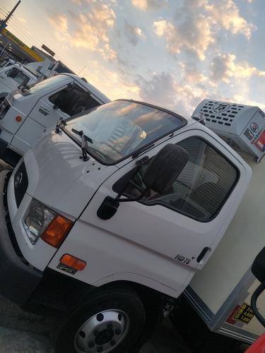 Imagem 1 de 13 de Caminhão Hyundai Hd 78 Baú Refrigerado Aceito Troca Carro