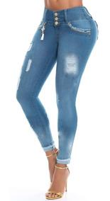 Jean Mujer Talle Grande Con Roturas Marca Cb Original