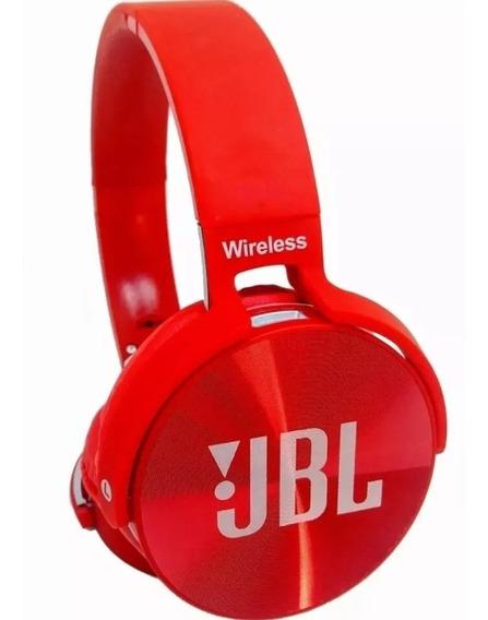 Fone De Ouvido Bluetooth Jb950 Head Fone Usb Vermelho