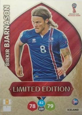 Card Copa 2018 Limited Edition Bjarnason 514