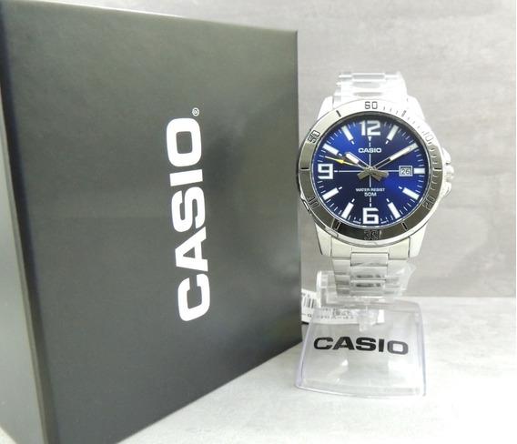 Relógio Masculino Casio Mtp-vd01d-2bvudf - Nota Fiscal E Gar