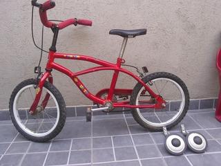 Bicicleta Musetta Roja Rodado 16 -impecable -