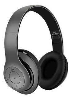 Auriculares Estéreo Bluetooth Con Micrófono Gris