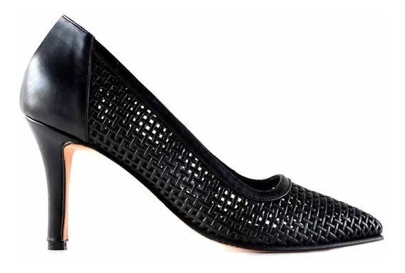 Zapato Mujer Cuero Briganti Vestir Taco Stilettos Mccz03361