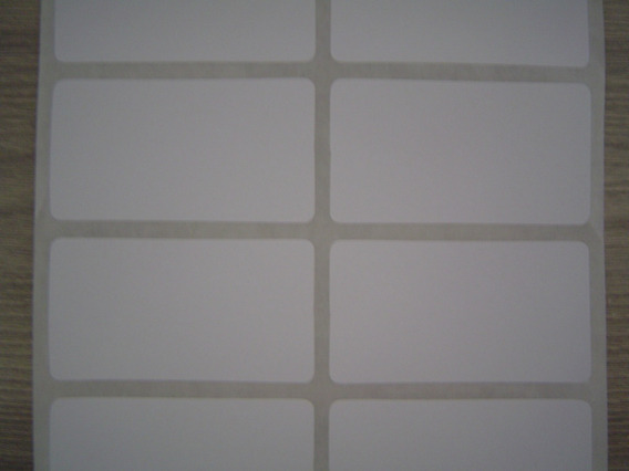 Etiqueta Ades. 50x27mm Couché, 2 Colunas Zebra, Argox, Elgin