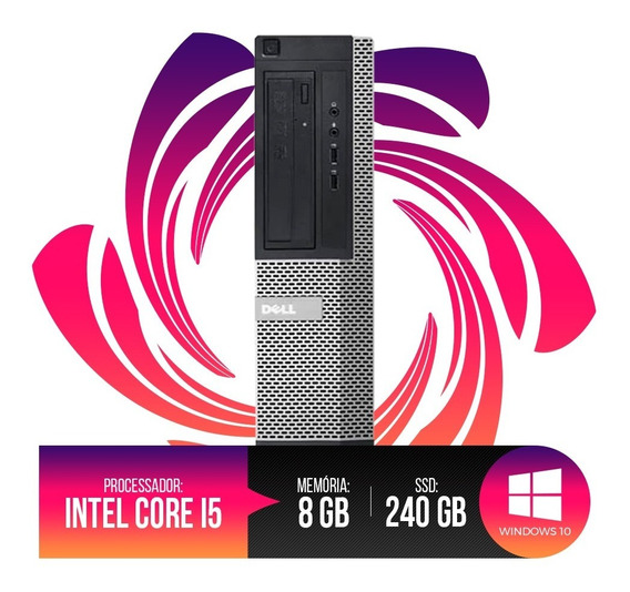 Pc Dell Optiplex Intel Core I5, 8gb Ram Ddr3, Hd Ssd 240gb
