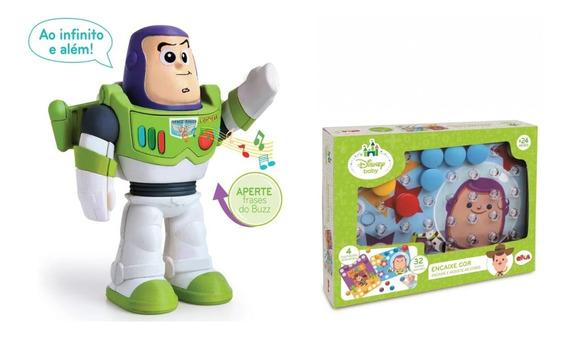 Boneco Buzz Lightyear + Jogo Toy Story Brinquedos Meninos