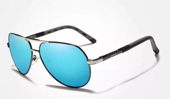 Gafas De Sol Polarizadas Masculinas Aluminio + Estuche