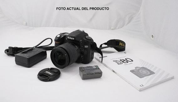 Camara Nikon D80 Menos 5000 Disparos + Lente + Tarjeta Kit