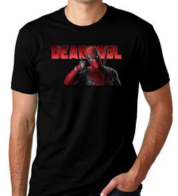 Camiseta Camisa Preta Do Super Héroi Dead Pool Marvel 03