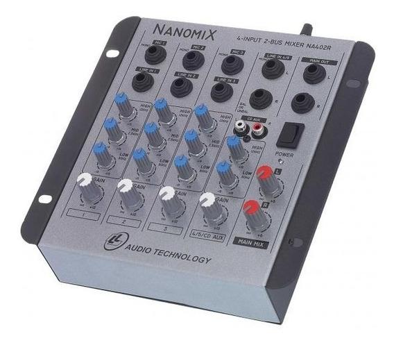 Mesa De Som Mixer Nanomix Ll Na402r 4 Canais