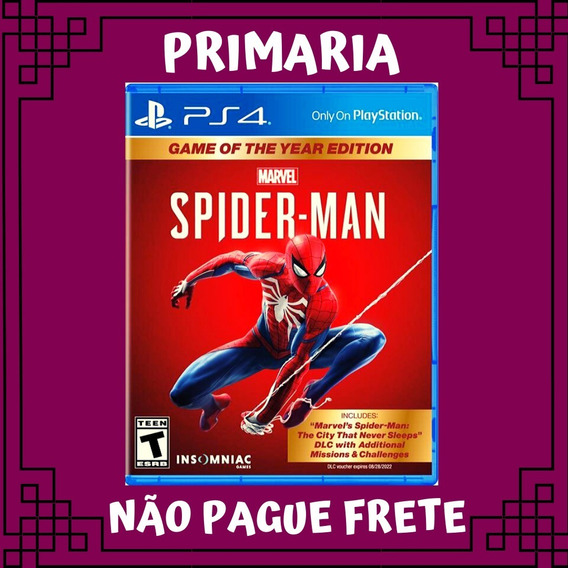 Spider Man Ps4 Game Of The Year Edition Play 4