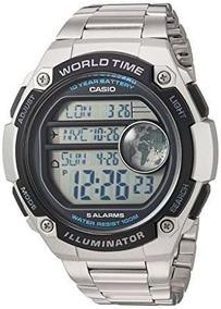 Relógio Masculino Casio Digital Ae3000wd-1av Aço Grande