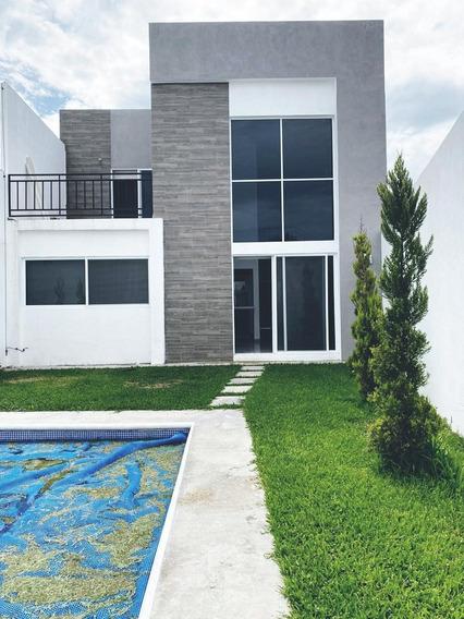 Preciosa Casa Nueva En Fraccto Seguro, Tlayacapan