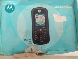 Celular Motorola C261 - Caixa E Carregador - Peças