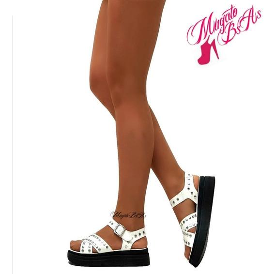 Sandalias Mujer Zapatos Plataforma Faja Cadena Mugato-bsas®