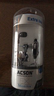 Auriculares Extra Bass Acson As-ex34 Headphones Celular, Mp3