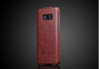 Case Couro Genuíno Vertical Flip Samsung S8 Plus+película