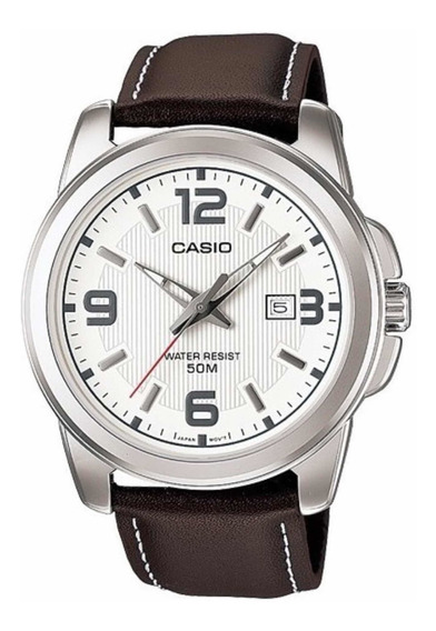 Relógio Casio Original Couro Mtp 1314 Prova Dágua
