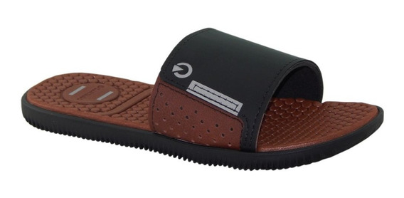 Chinelo Slide Cartago Infantil Barcelona Gaspe Marrom 11369