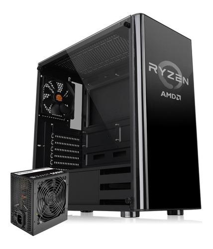 Gabinete Gamer Thermaltake V200 Tg Ryzen Edition Fuente 500w
