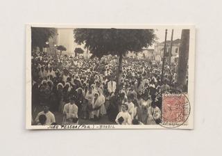 Postal Manifestação Popular Católica Em João Pessoa P B 1932