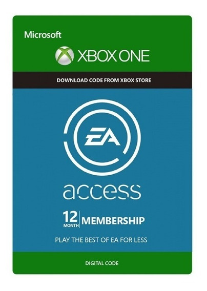 Ea Access 12 Meses Xbox One - 25 Digitos