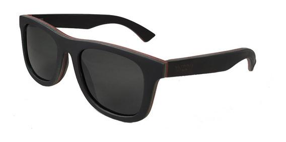 Gafas Anteojos Sol Madera Woot8 - Black Sk8