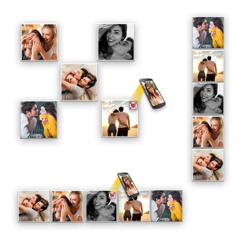 Imagem 1 de 5 de Azulejo Dia Dos Namorados  Com Foto E Vídeo- 05 Peças 15x15