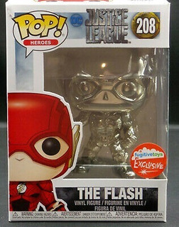 Funko Pop Justice League Flash Silver Chrome Exclusive