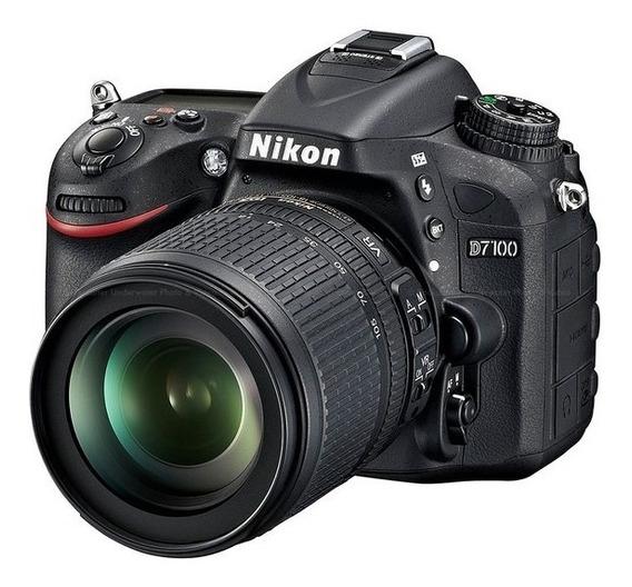 Câmera Nikon D7100 24.1mpixels C/ Obj Nikon 18-105mm F/3.5-5
