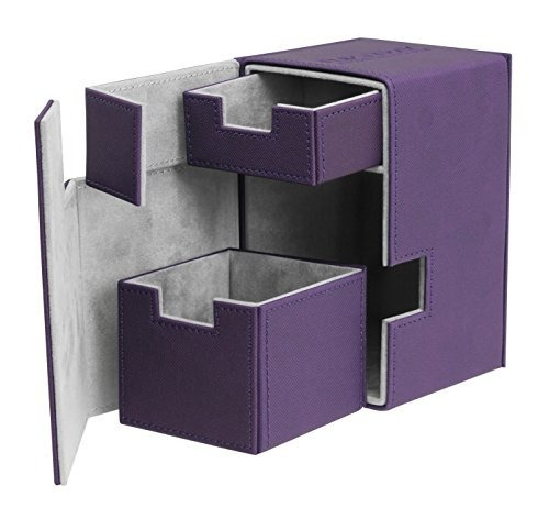 80/100 Card Flip N Tray Xenoskin Funda De Cubierta, Púrpura