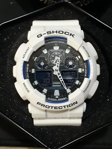 Relogio Casio G Shock Ga-100b-7a Branco